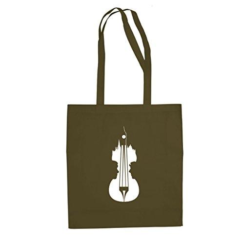 Sherlock Violin - Stofftasche / Beutel Oliv