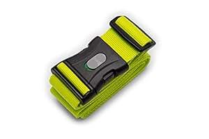 1 STK. Kofferband I Koffergurt I Gepäckgurt extra lang (250x5cm) mit verschließbarer Schnalle von BE-HOLD schützt Ihren wertvollen Gepäckinhalt vor Verlust (Farbe grün)
