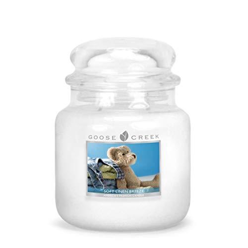 Leinen Duftkerze (Goose Creek Duftkerze im Glas, aus weichem Leinen, 454 g, mittelgroß)