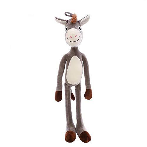 DZH Cartoon Plüschtier Weiche Große Augen Esel Kissen Gefüllte Lustige Animalt Plüschtier Urlaub Geschenk Raumdekoration 85 cm Grau (Gefüllte Giraffe Große)