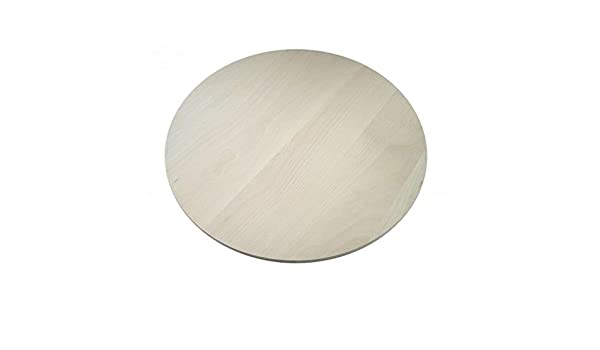 RAW Round circular wooden chopping board cutting serving pizza solid wood 40cm