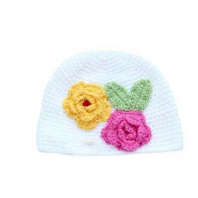 weiß Baby Blume handgefertigt Hut(White baby hat) (Mädchen Auburn Tigers)