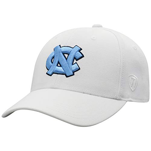 Top of the World NCAA Premium Collection Herren Mütze, Memory-Fit, Weiß, Herren, Premium Collection One-fit Memory Fit Hat White Icon, weiß, Einstellbar -
