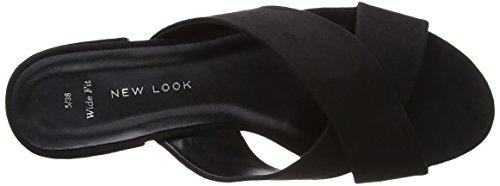 New Look - Wide Foot Holanda, Scarpe col tacco Donna Black (Black)