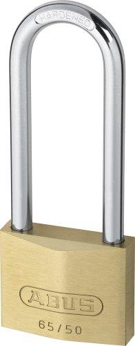 Abus – 65/50 50mm HB80 Brass Padlock Lange Schäkel Carded – ABU6550LSC - 2