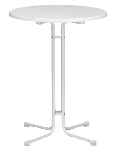 Fun Star MFG Table d'appoint avec Plateau en sevelit, Couleur : Blanc
