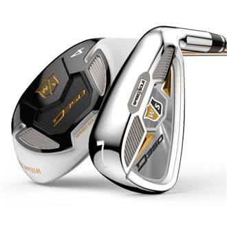 Wilson Staff Damen Golf-Set, Sechs Golfschläger, Linkshand, D350, Ladies' Flex, stahl/graphit, WGR167920