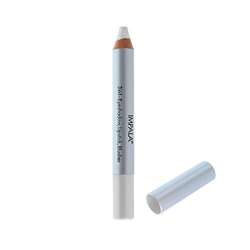 Impala Crayon Exclusif Jumbo 3 en 1 N01 Blanc Yeux Lèvres Fard Tenue Longue