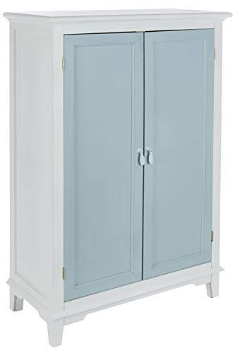 elbmöbel Schrank Kommode blau weiß Landhaus Shabby Vintage Kleiderschrank Holz Badschrank