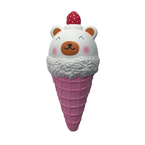 1 Stücke Squishy Jumbo Einhorn Eis Squishy Super Langsam Steigende Creme Duftende Nette Kawaii Sammlung Geschenk Dekor Stressabbau Weiche Squishies Spielzeug für Kinder Erwachsene 18.5 x8.5cm (A)