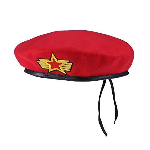 Armee Commando Kostüm - Amosfun Party Kostüm Mütze Barett Marine