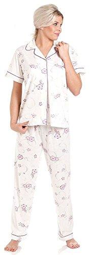 Lady Olga Short Sleeve Jersey Blumen Pyjamas Purple