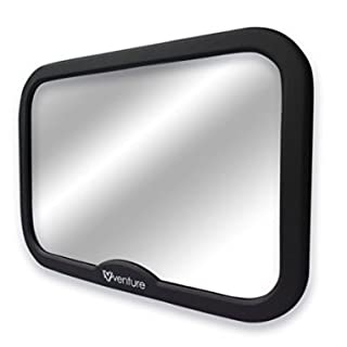 Acti-Vue Baby Car Mirror, CHGeek Wide Convex Mirror 100% Shatterproof New Improved Design Premium Quality Certified for Safety
