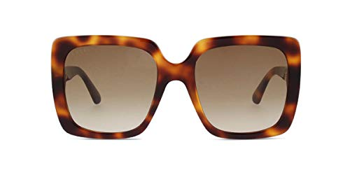 2a451385c06 Gucci GG0418S 003 Havana GG0418S Square Sunglasses Lens Category 2 Size 54mm