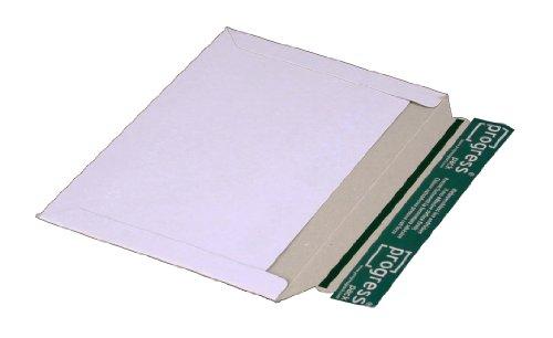 progressPACK Versandtasche quer, PP V07.02 aus Vollpappe, DIN C5, 246 x 172 mm, 25-er Pack, weiß