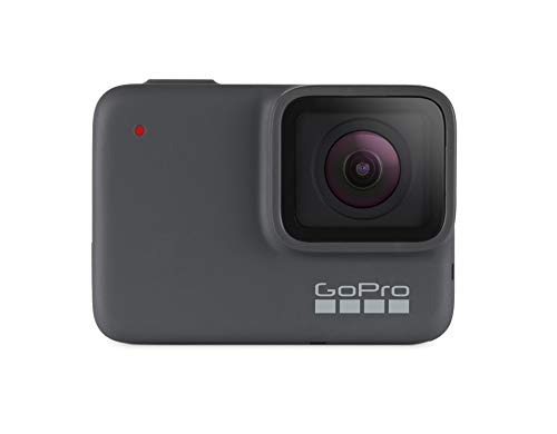 GoPro HERO7 Silver - Cámara de acción (sumergible hasta 10m, pantalla táctil, vídeo 4K HD, fotos de 10 MP), color gris