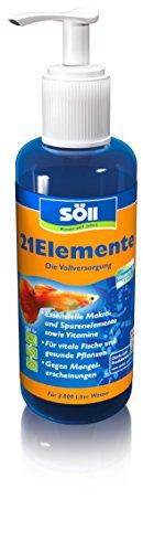 Söll 14008 21Elemente - Die Vollversorgung für Fische und Pflanzen im Aquarium - 250 ml