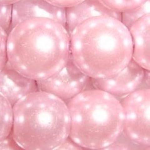 k2-accessories 200pezzi 6mm perline in vetro, colore: rosa pallido–a0955-a
