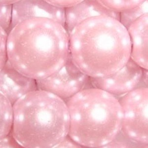 100 pieces 8mm Glass Pearl Beads - Pale Pink - A1002 by k2-accessories Glass Pearl Beads