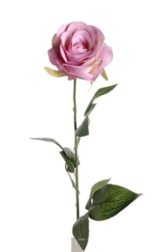 Artif-deco - Rose nina artificielle violine h 70 cm tete superbe 9 cm 3 feuilles superbes - choisissez votre coloris: violine