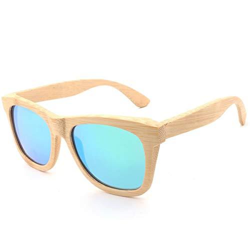CNDY sonnenbrille strand sonnenbrille polarisierte sonnenbrille brille retro holz unisex 14,4 * 14 * 4,2 cm (farbe: e)