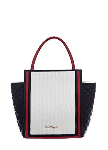 GIO CELLINI - Femme sac a bandoulier shopper t223 Blanc