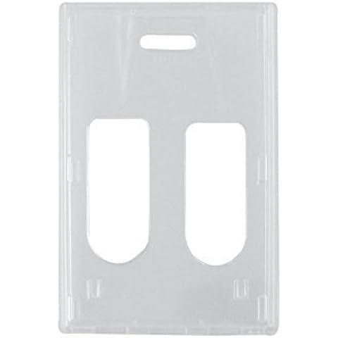 Clear RigidWear Vertical 2-Card Badge Holder - 50 per pack by Brady