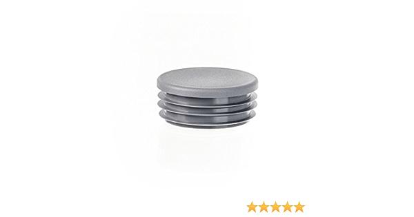 1 Stck bouchon pour tube rond 80 gris plastique Embout bouchons dobturation