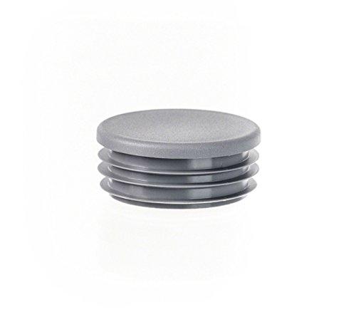 5 Stck. bouchon pour tube rond 80 gris plastique Capuchon Bouchons