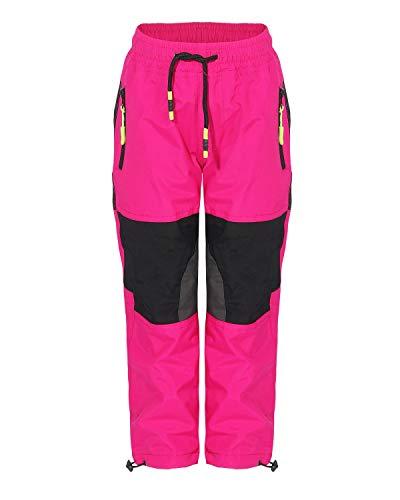 SEZON Skihose Kinder Thermohose Jungen Mädchen Outdoor Snowboardhose Schneehose Winter (128, pink)
