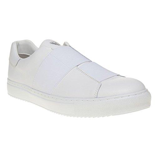 Armani Jeans Cross Strap Slip On Uomo Sneaker Bianco