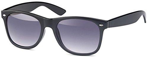 MOKIES Unisex Sonnenbrillen - UV400 Filterkategorie 3 CE Kennzeichnung - Wayfarer Design - Polycarbonat - 104 Grau verlaufend