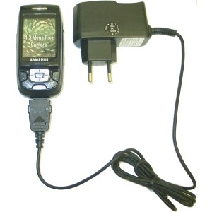 Turbo Ladegerät - Netzteil 100-240 Volt für Samsung SGH-D500, ladekabel, netzteil