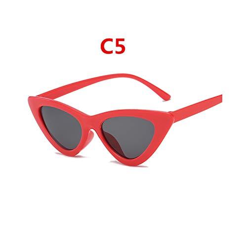 Sportbrillen, Angeln Golfbrille,NEW Brand Designer Sunglasses Women Luxury Plastic Vintage Retro Triangular Cat Eye Glasses Outdoor Oculos De Sol Gafas C5