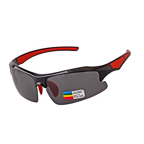 WHITNEY Polarisierte Sonnenbrillen Zum Laufen Angeln UV-Schutz Sport Sonnenbrillen Eyewear,BlackRed