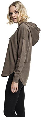 Urban Classics Damen Hoodie Ladies Oversized Terry Hoody, weit geschnittener Kapuzenpullover für Frauen mit abgerundetem Saum Grün (Army Green 1144)