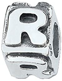 amore & baci .925 Letra de plata R Bead Charm