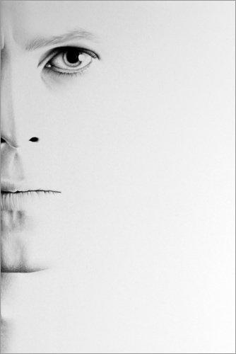 Poster 40 x 60 cm: David Bowie Minimal Portrait de Ileana Hunter - reproduction haut de gamme, nouveau poster