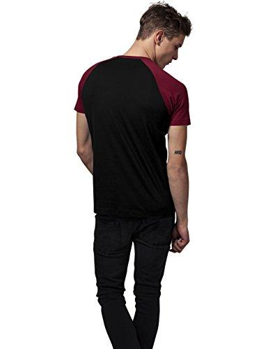 ... Urban Classics TB639 Herren T-Shirt Raglan Contrast Tee Mehrfarbig (Blk/Burgundy  651 ...