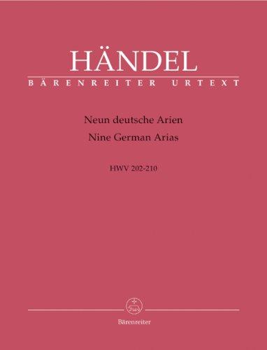 Neun deutsche Arien HWV 202-210. BÄRENREITER URTEXT. Partitur, Stimmensatz, Urtextausgabe, Sammelband