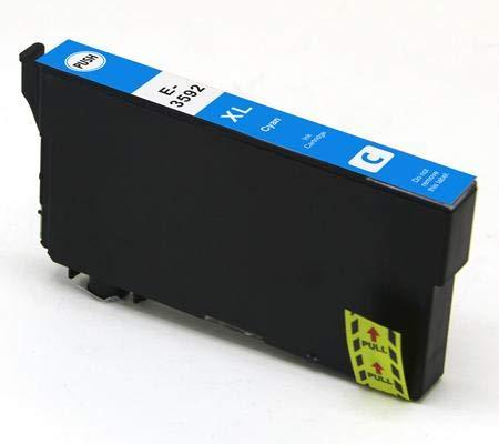 Cartuccia compatibile per Epson wf-4720dwf wf-4725dwf wf-4740dtwf wf-4730dtwf - Ciano - 150 pagine - t3592