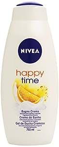 Nivea Happy Time - Bagno Crema - Nutriente Latte Di Bambù E Inebriante, Fragranza Di Fiori D'Arancio - 750Ml