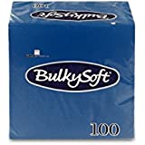 Bulky 32630Soft BS Serviettes pliage 1/4, 2plis, bleu 24cm x 24cm ()