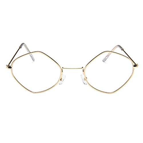 Dragon868 Unisex Retro Diamond Sonnenbrille Metallrahmen Shades Brillen (B, Sonnenbrille)