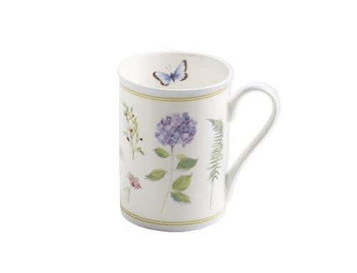 Maxwell & Williams S303001 Butterfly Garden Becher, Kaffeebecher, Tasse, 350 ml, in Geschenkbox, Porzellan, blau