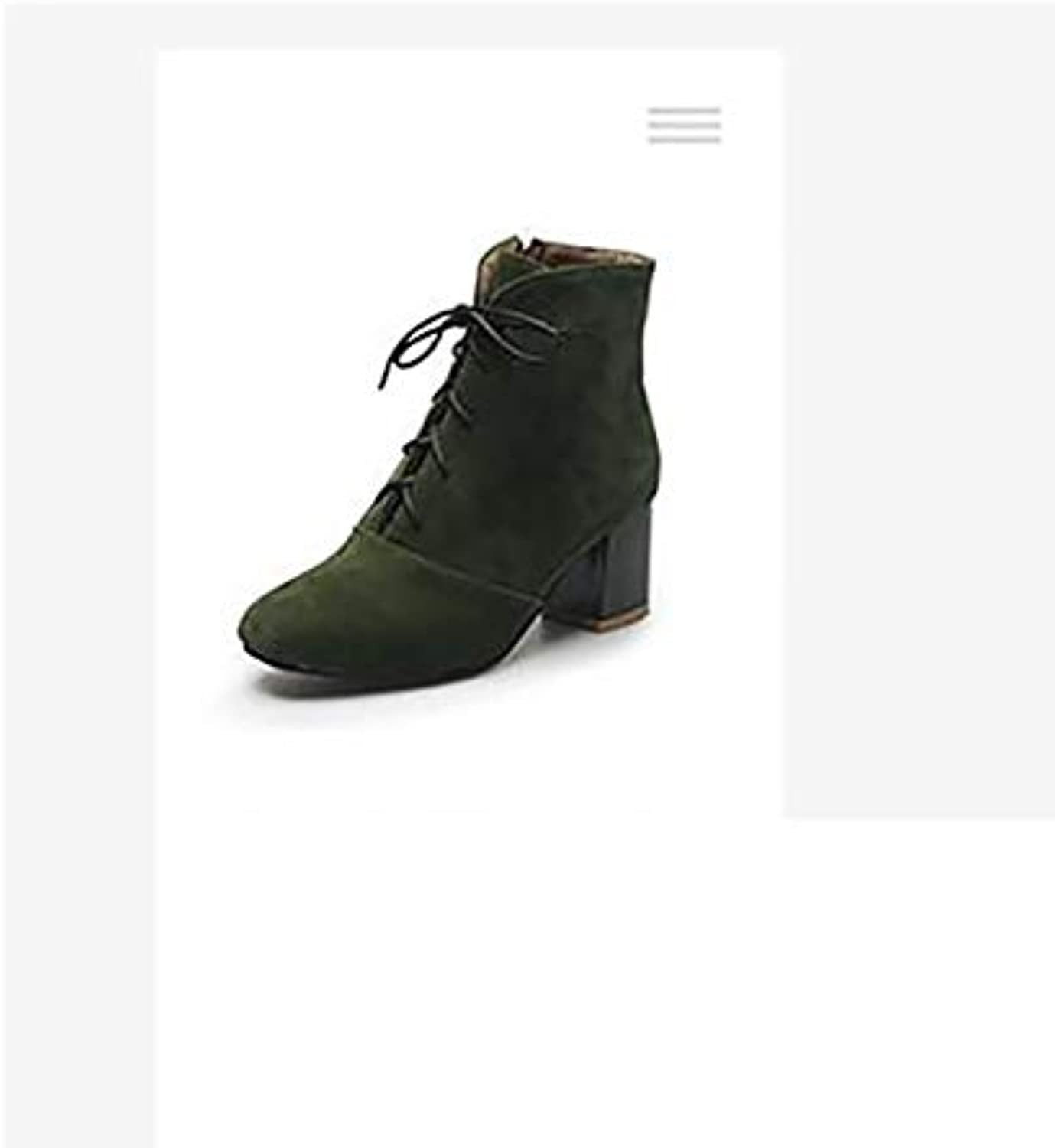 996ca1204615 JING Female heel shoes Autumn and winter thick with with with simple large  size women s boots side zipper boots B07HDNYY1W Parent 4a942e