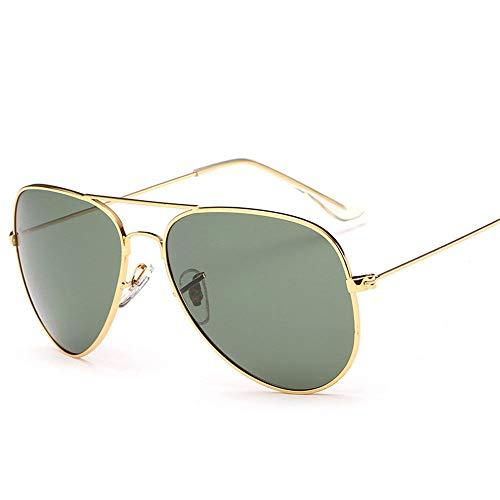 MJ Glasses Sonnenbrillen Unisex-Froschspiegelpilot aus Metall mit polarisierter Brille, D