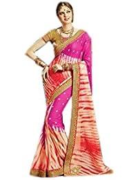 Mantra Fashions Women's Georgette Saree (Mant07_Multi)