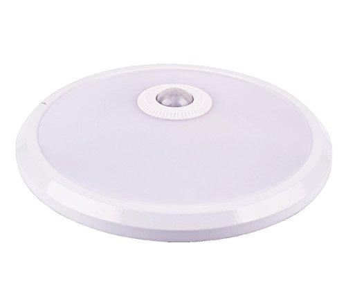 Plafoniera Con Sensore Di Movimento : Tevea lampada da soffitto con sensore di movimento pir w blanc