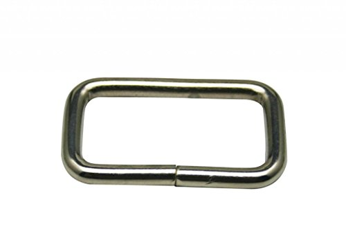 Generic en métal argenté Rectangle Boucle 5,1 x 2,2 cm à l'intérieur Dimension pour sangle Keeper Lot de 10